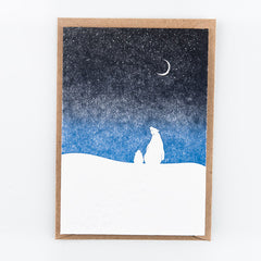 Studio Flash / Letterpress Postkaart / Polar bears