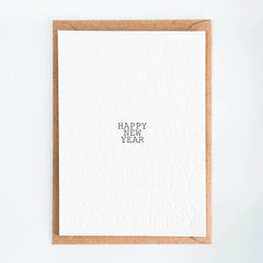 Studio Flash / Letterpress Postkaart / Happy New Year
