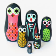 OMM Design / Matryoshka Nesting Dolls / Pocket Owls