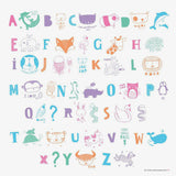A Little Lovely Company / DIY ABC Pastel Set voor Lightbox