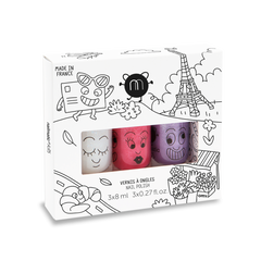 Nailmatic kids / Nagellak op waterbasis / Set van drie / City