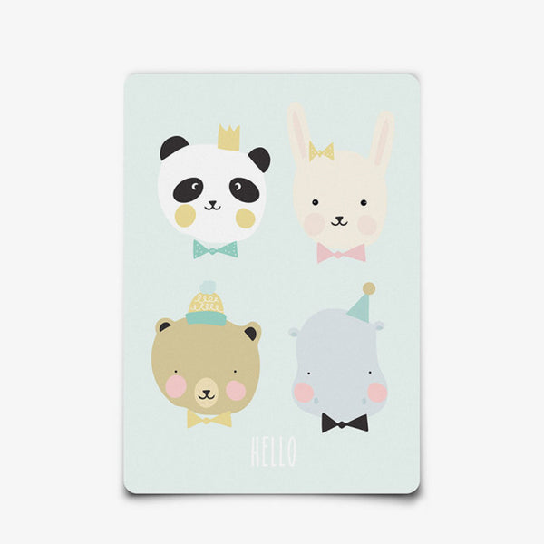 Postkaart mini print van Eef Lillemor / Lovely Animals