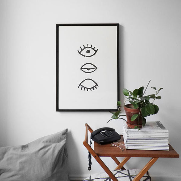 Poster / 50x70cm / Eye Eye van Fine Little Day