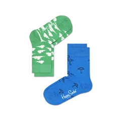 Happy Socks / Set van twee / Cloud Groen