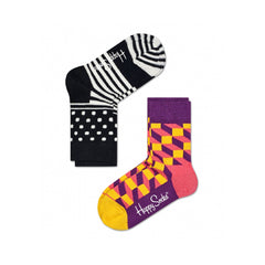 Happy Socks / Set van twee / Filled Optic
