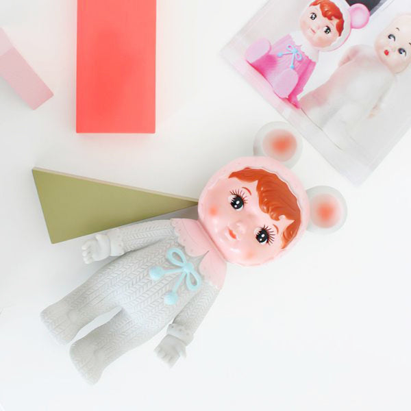Woodland Winter Doll van Lapin & Me / Grey & Pink