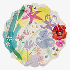 Meri Meri / Painted Flower Plate / Large