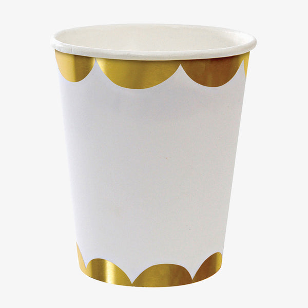 Meri Meri / Gold Scallop Cups