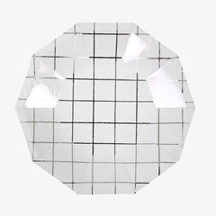 Meri Meri / Silver Grid Party Plates / Small