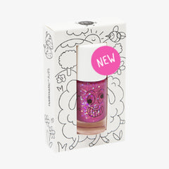 Nailmatic kids / Nagellak op waterbasis / Sheepy / Paars Roze Glitters