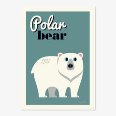Poster / 50x70cm / OMM Design / Polar Bear