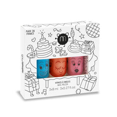 Nailmatic kids / Nagellak op waterbasis / Set van drie / Party