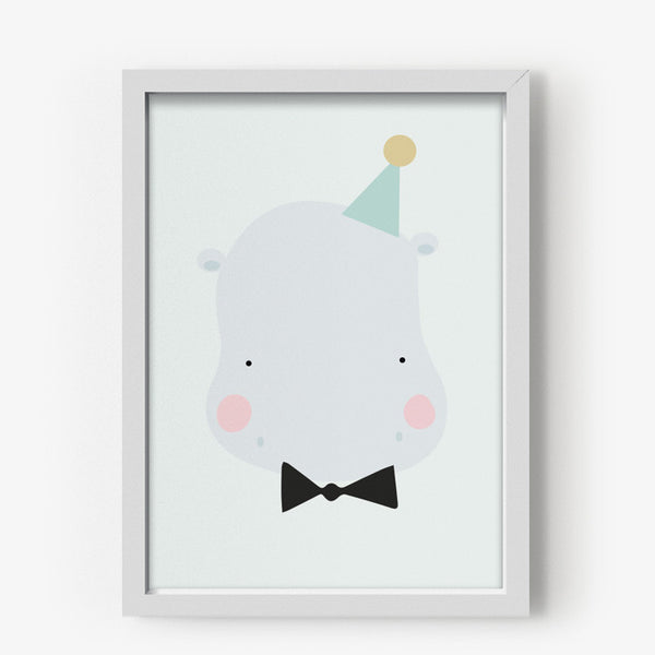 Poster / A3 / Eef Lillemor / Happy Hippo