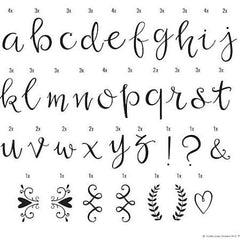 A Little Lovely Company / DIY Script Letters Set voor Lightbox