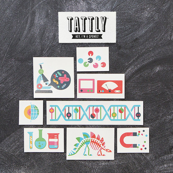 Tattoo van Tattly / Science set