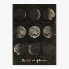 Poster / 50x70cm / OMM Design / The Bright Side Of The Moon