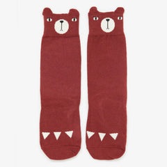 Mini Dressing / Bear Knee Socks / Red