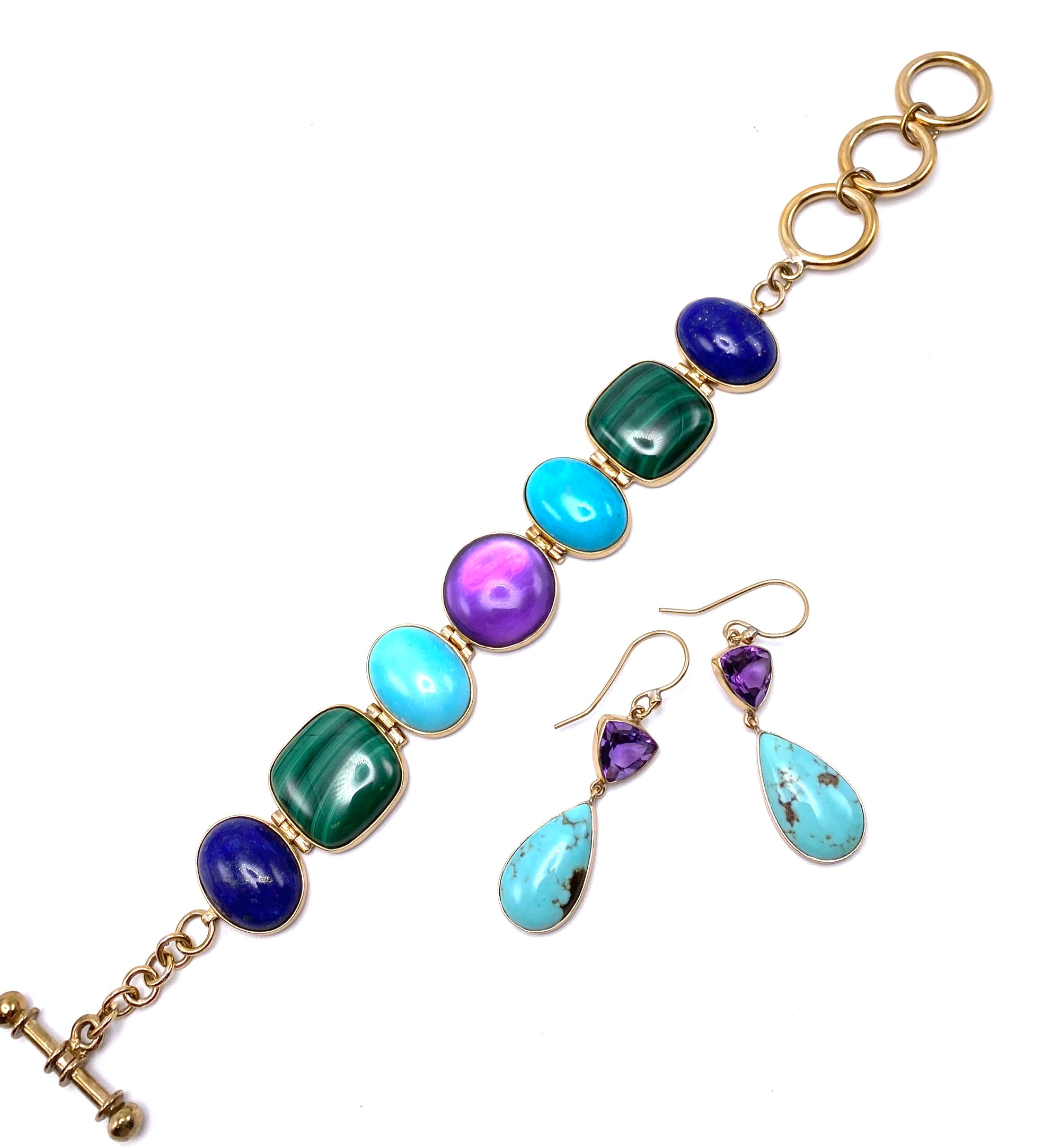 Dina Mackney Jewel Tones Bracelet and Necklace