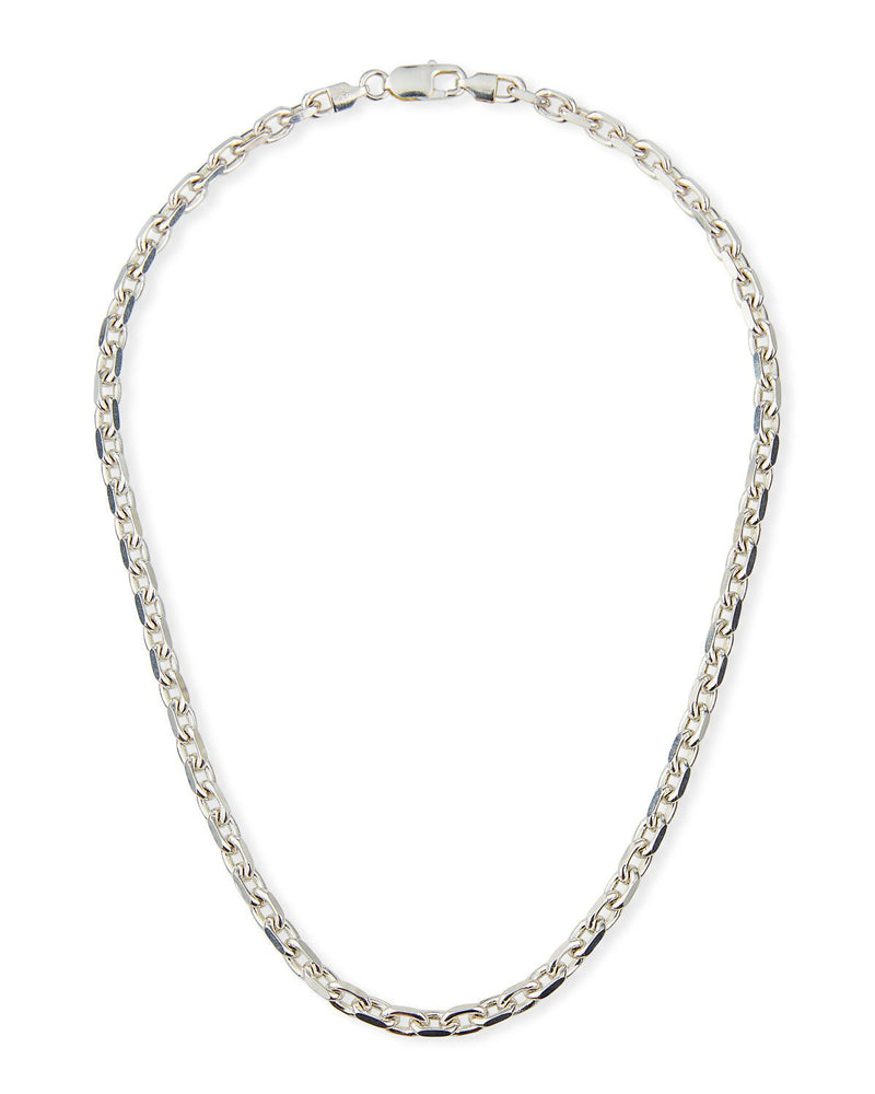 Sterling Silver Faceted Four Side Chain