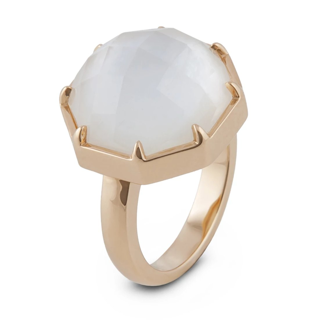 Fine Mother of Pearl and 18K Ring