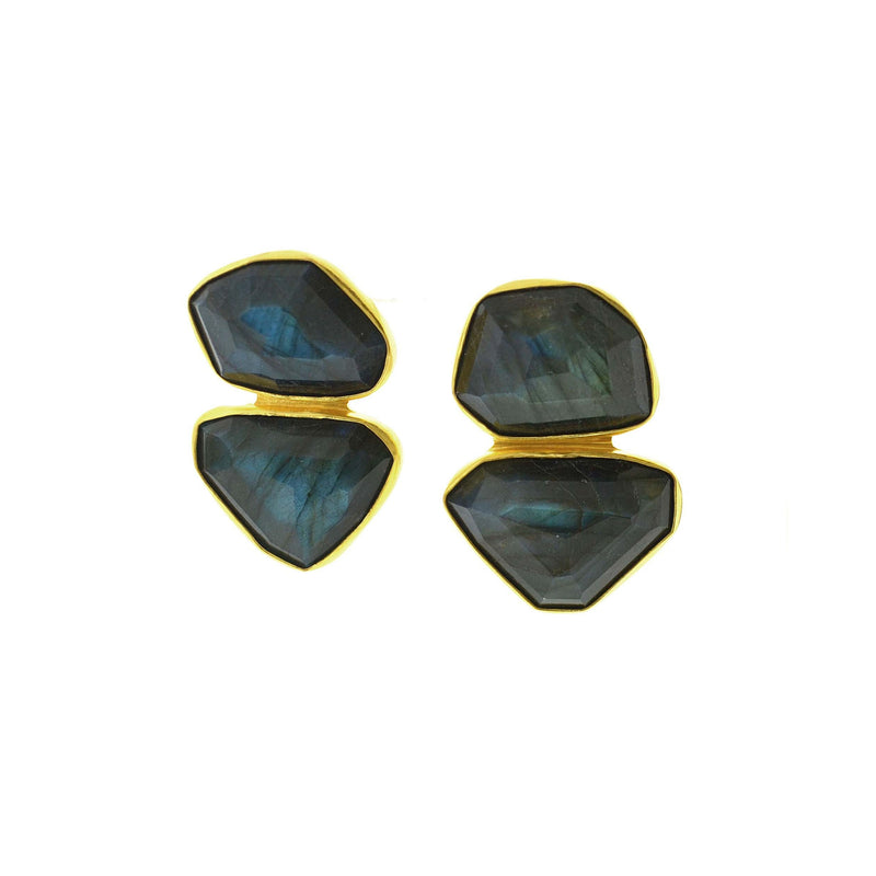 Labradorite Double Earring