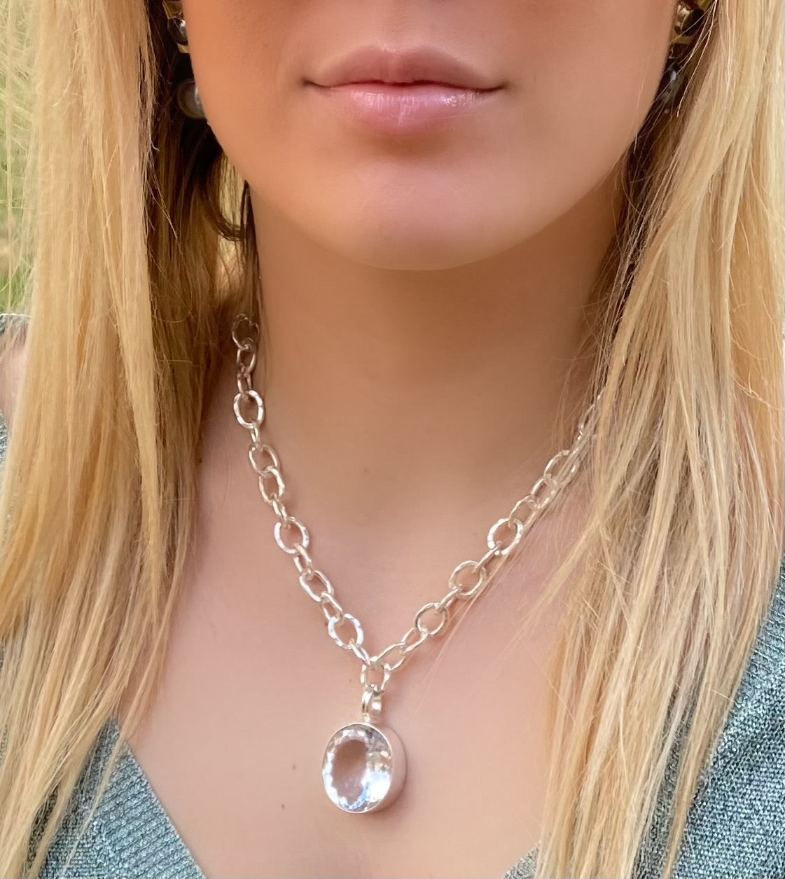Sterling Quartz on Luxe Chain