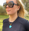Turquoise Heart Toggle Necklace