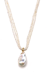 Dina Mackney Baroque Pearl Drop Necklace