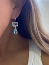 Model wearing Sterling + Topaz Double Earring