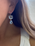 Sterling + Topaz Double Earring