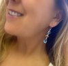 Blue Topaz Triple Drop Earring