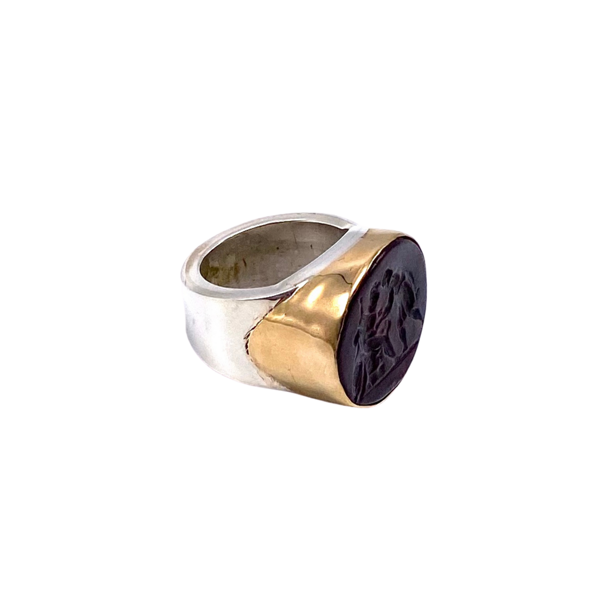 Intaglio Mixed Metal Ring