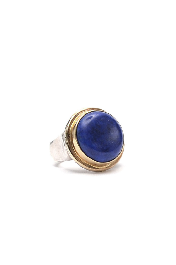 Mixed Metal Lapis Ring