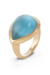 London Blue Topaz Doublet Ring