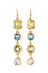 Multi-Stone 4-Drop Earrings