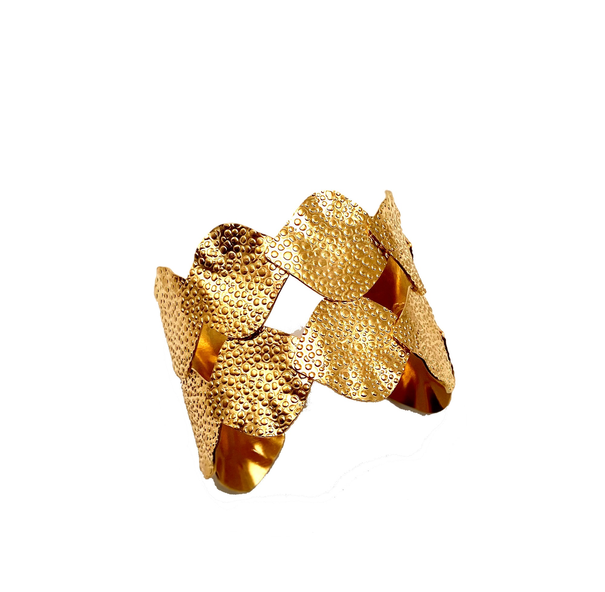 Gold Pebble Cuff