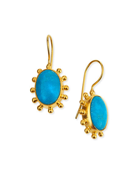 Sleeping Beauty Turquoise Pinwheel Earrings
