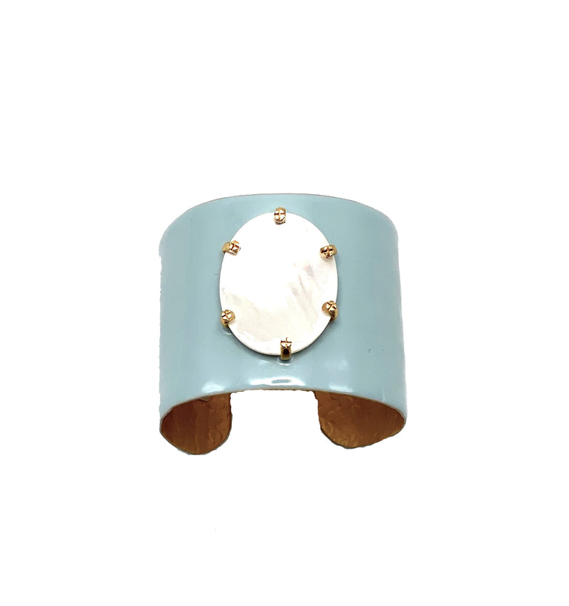 Mother of Pearl Enamel Cuff