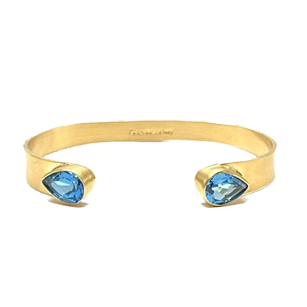Brazilian Blue Topaz Open Mini Cuff