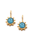 Natural Neon Apatite Pinwheel Earrings