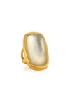 Faceted Mother of Pearl Doublet Ring