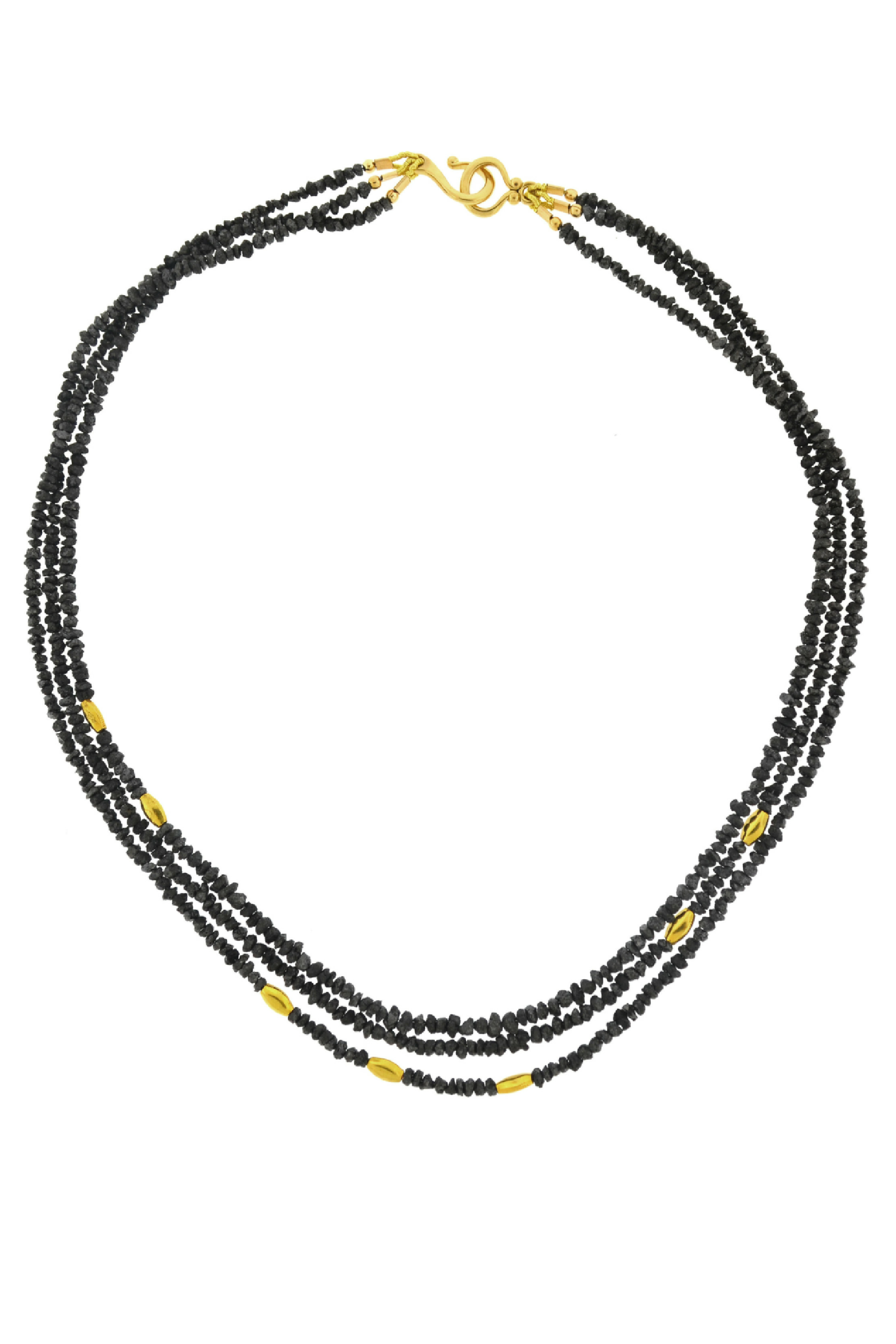 Black Diamond Multi Strand Necklace
