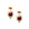 Ruby, Garnet Starburst Earring