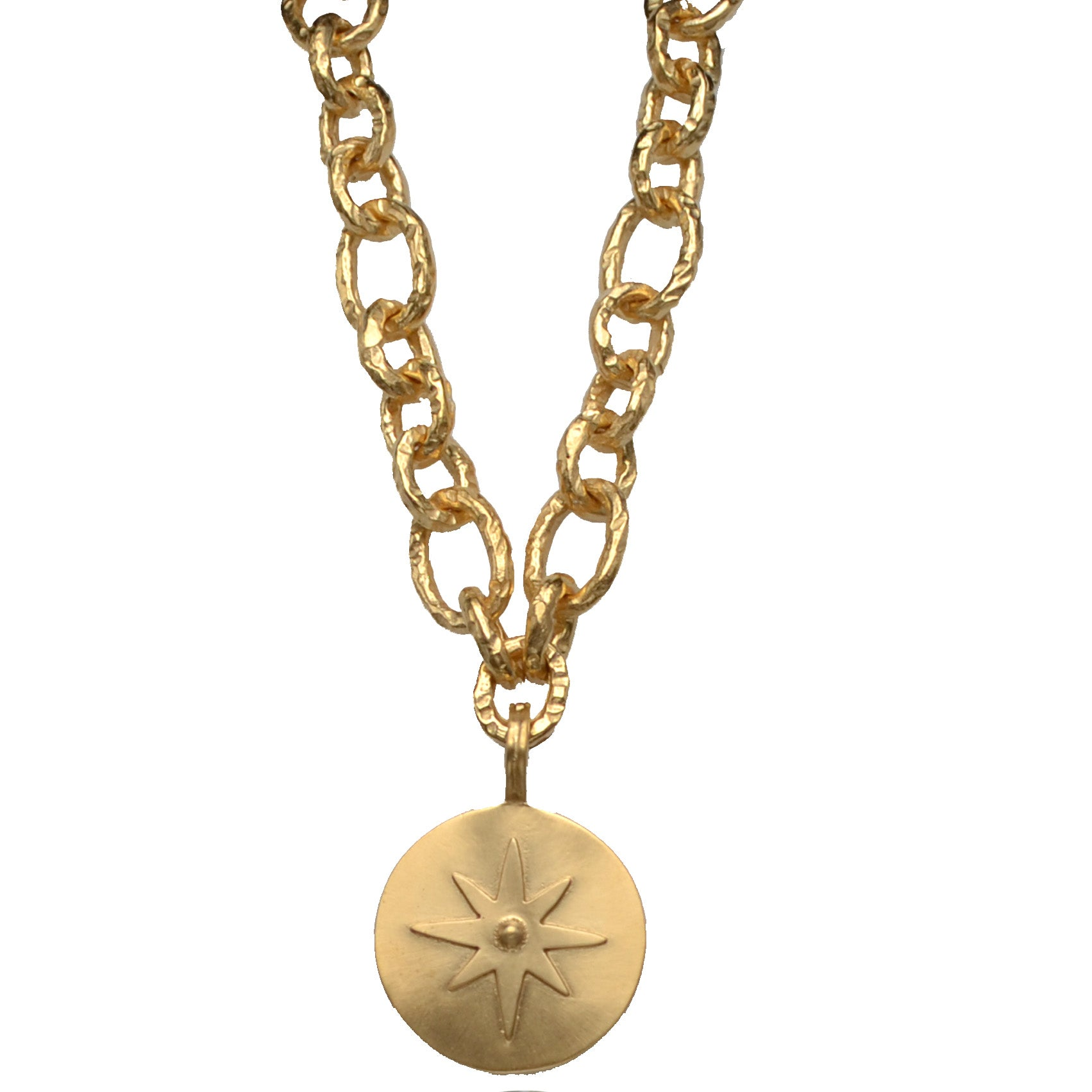 Soft Gold Star Pendant
