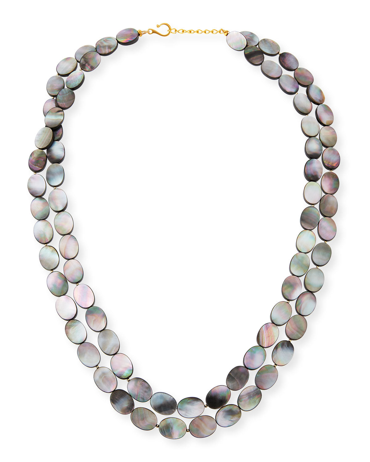 "Gray Mother of Pearl 36"" Necklace"