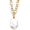 Mother of Pearl Oval Pendant