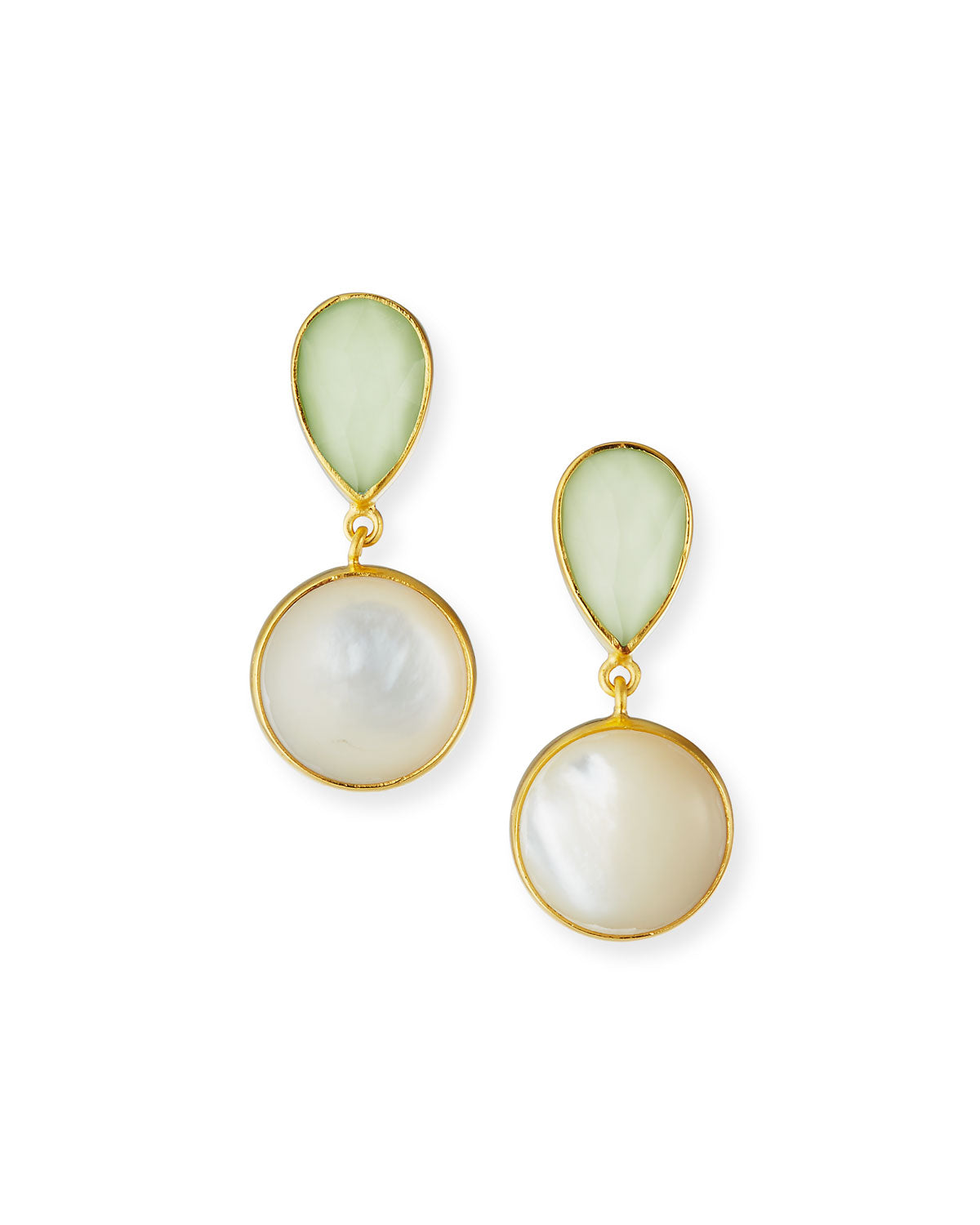 Lemon Chrysoprase and Mother of Pearl