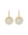 Mother of Pearl Doublet Pinwheel Earrings