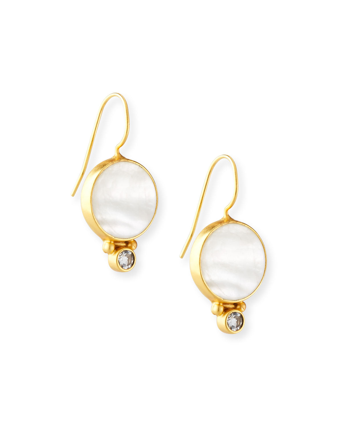 Mother of Pearl + Topaz Middie Earring