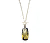 Olive Quartz Sterling Pendant Necklace